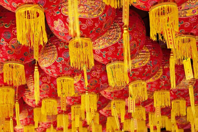 Tradycyjnych chińskie lampionów czerwony tło zdjęcie royalty free