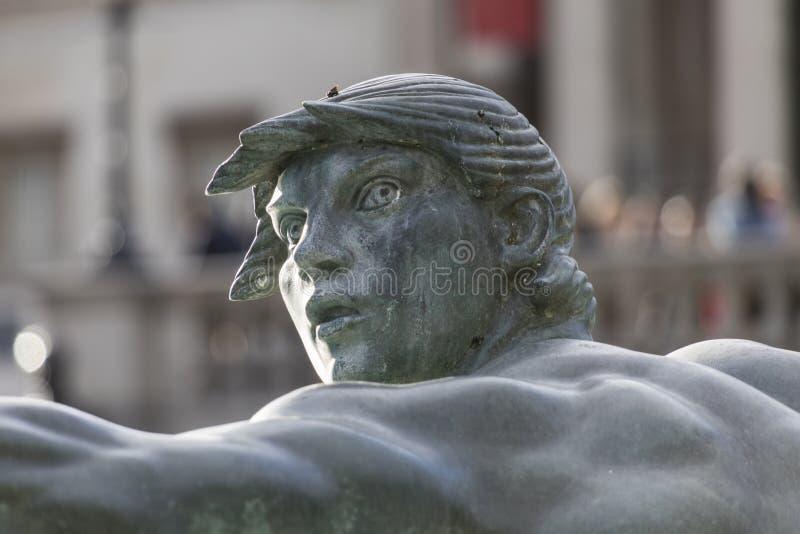 Trafalgar kwadrata fontanny zakończenie syrenka fotografia royalty free