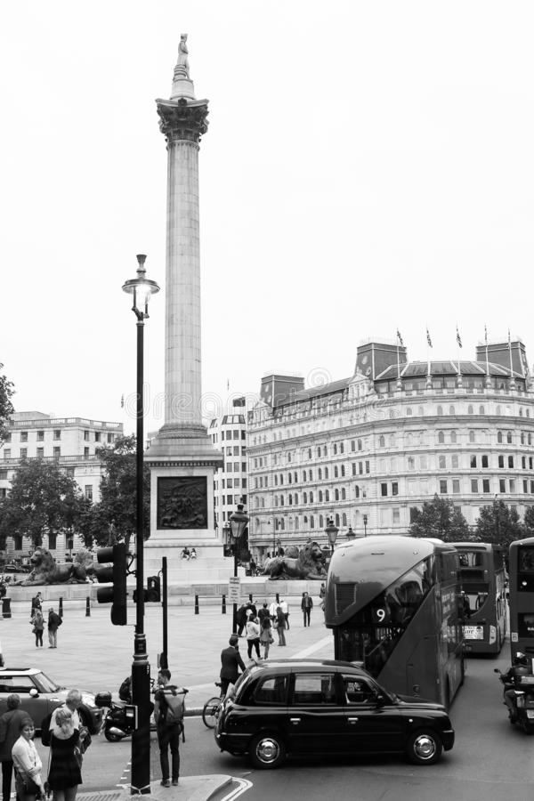 trafalgar london квадратное стоковое фото rf