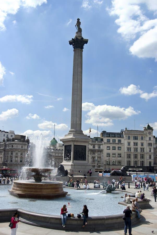 Trafalgar Londres cuadrado imagenes de archivo