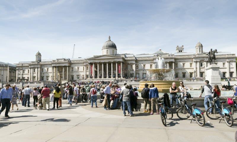 Trafalgar Quadrat, London lizenzfreies stockfoto