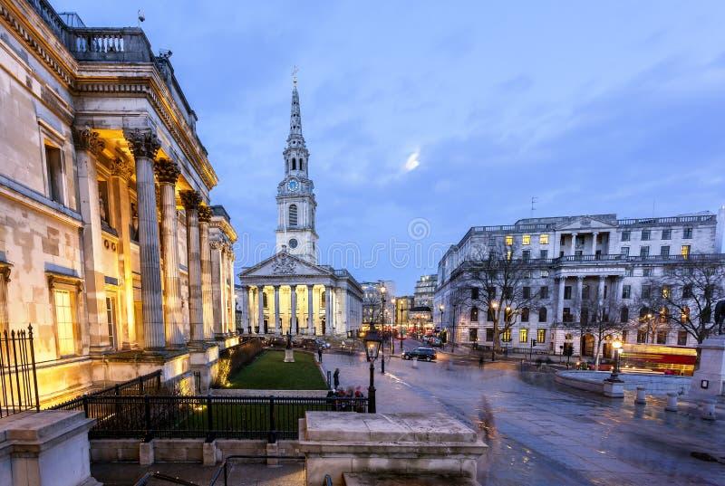 Trafalgar quadratisches London lizenzfreies stockfoto
