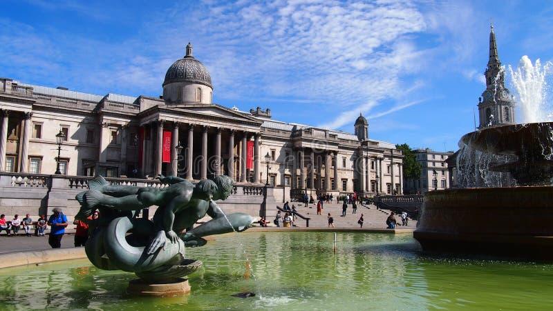 Trafalgar Square en el coraz?n de la capital brit?nica foto de archivo libre de regalías