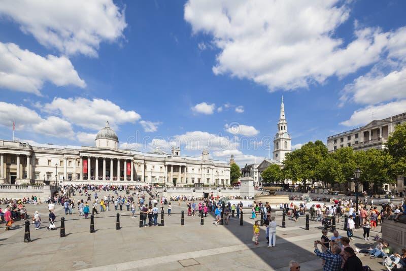 Trafalgar Square en Londres, editorial imagen de archivo libre de regalías