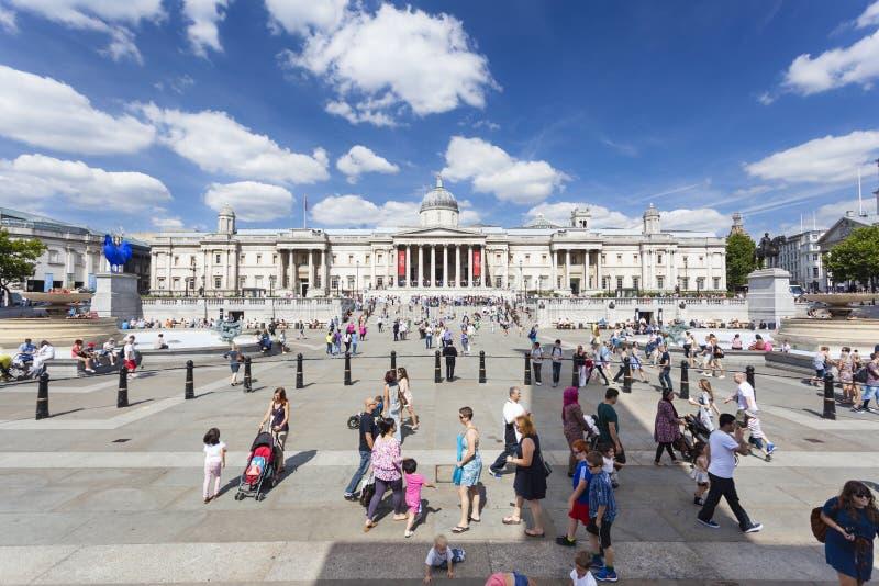 Trafalgar Square en Londres, editorial fotos de archivo libres de regalías