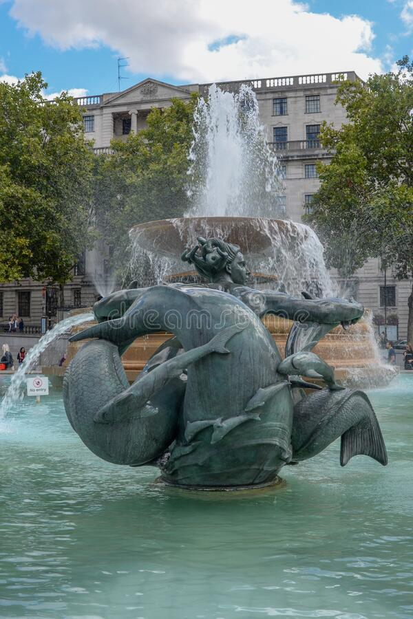 Trafalgar Square London immagine stock libera da diritti