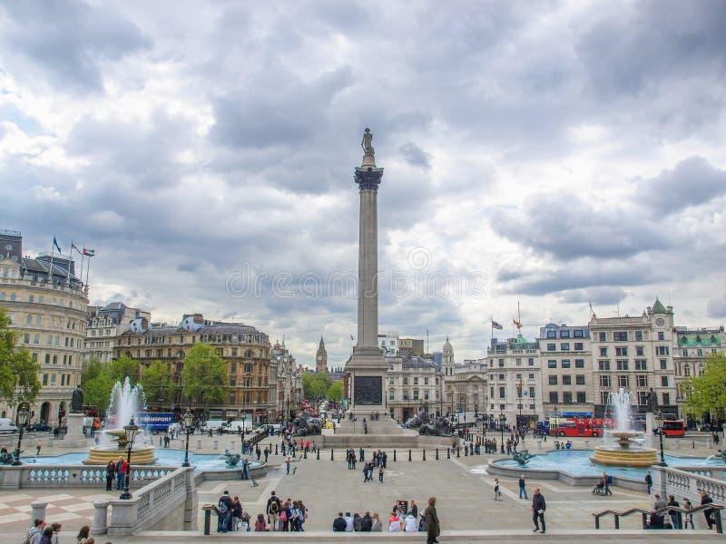 Trafalgar Square Londres foto de archivo libre de regalías