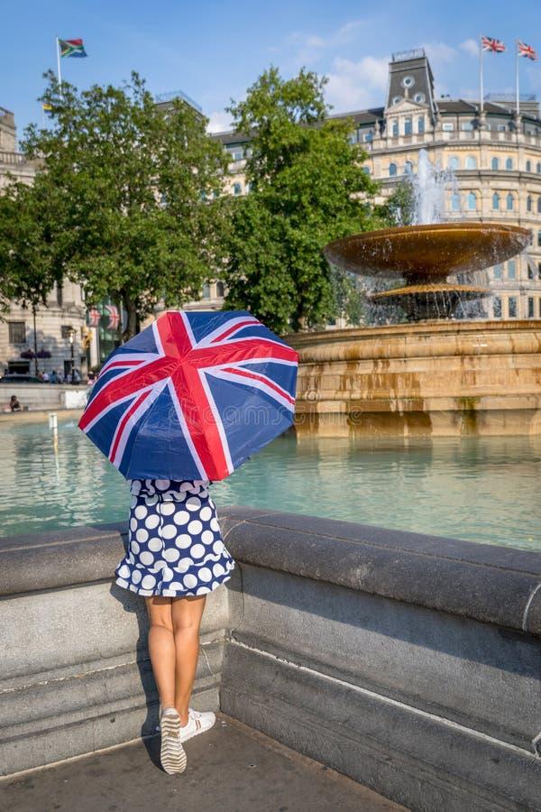 Trafalgar Square stad av London royaltyfri bild