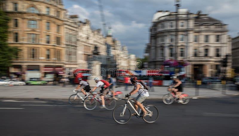 Trafalgar Square stad av London fotografering för bildbyråer