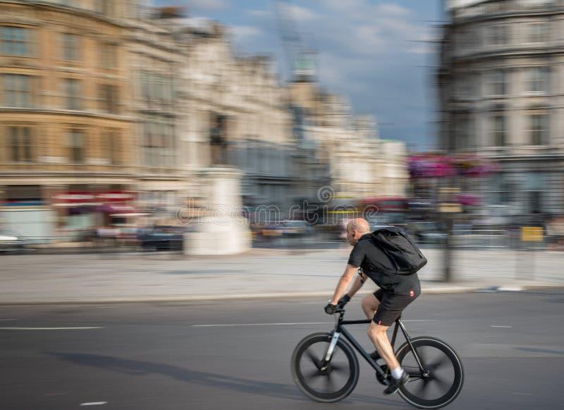 Trafalgar Square stad av London arkivfoton