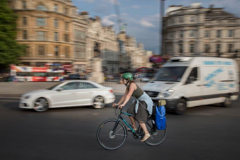 Trafalgar Square stad av London royaltyfri fotografi