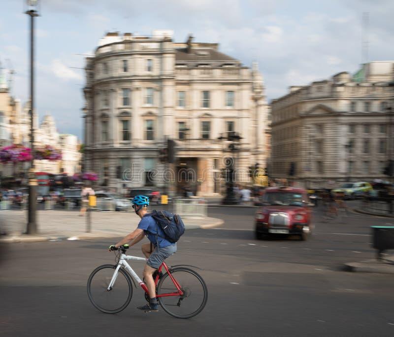 Trafalgar Square stad av London royaltyfria foton