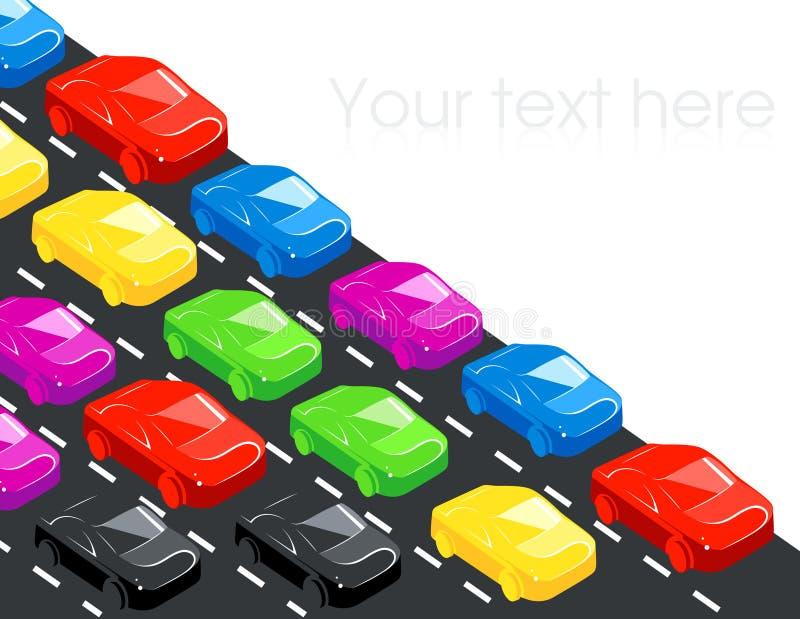Download Traffic stock vector. Illustration of asphalt, hour, stop - 13782847