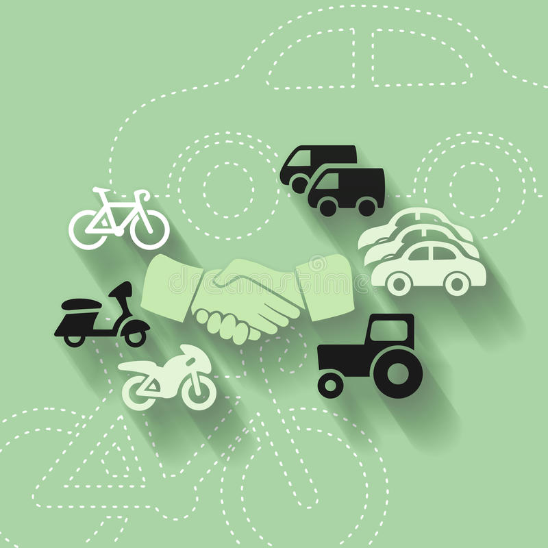 Traffic. Abstract illustration with traffic harmony vector illustration
