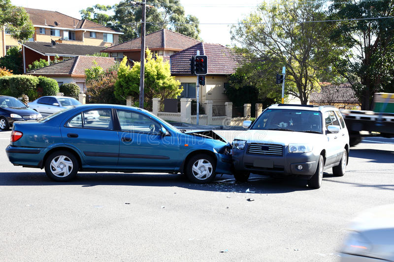 Traffic accident stock image