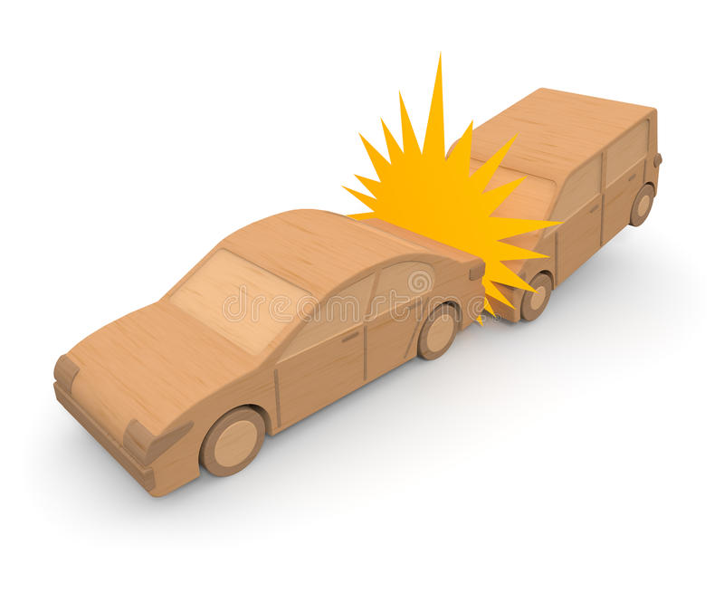 Traffic accident / car. Careless driving. Fit in an accident. Injury in a car accident. Out too much the cause of the speed. Dangerous driving. Accidents caused vector illustration