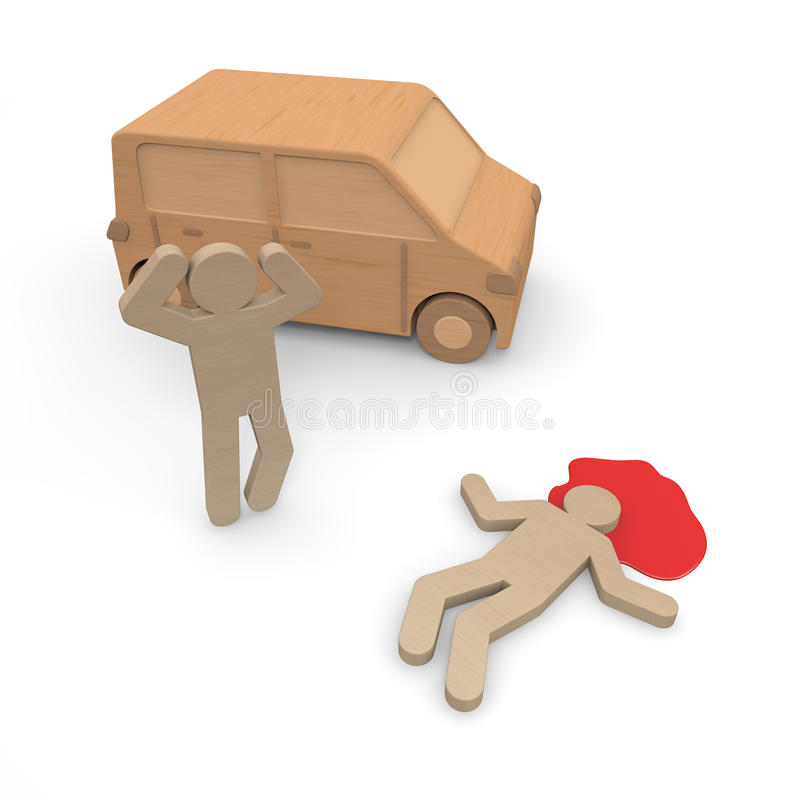 Traffic accident / injury. Cause an accident with dangerous driving. It would bounce people. Be upset. Panic. People fall. Operation of the forward carelessness vector illustration