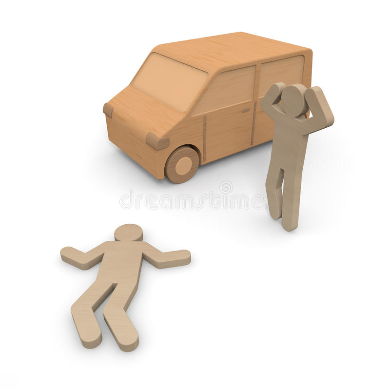 Traffic accident / injury vector illustration