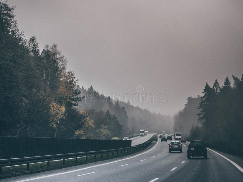 Traffic on Autobahn, Germany royalty free stock image