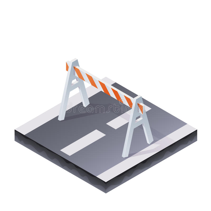 Traffic Barrier Illustration vector illustration