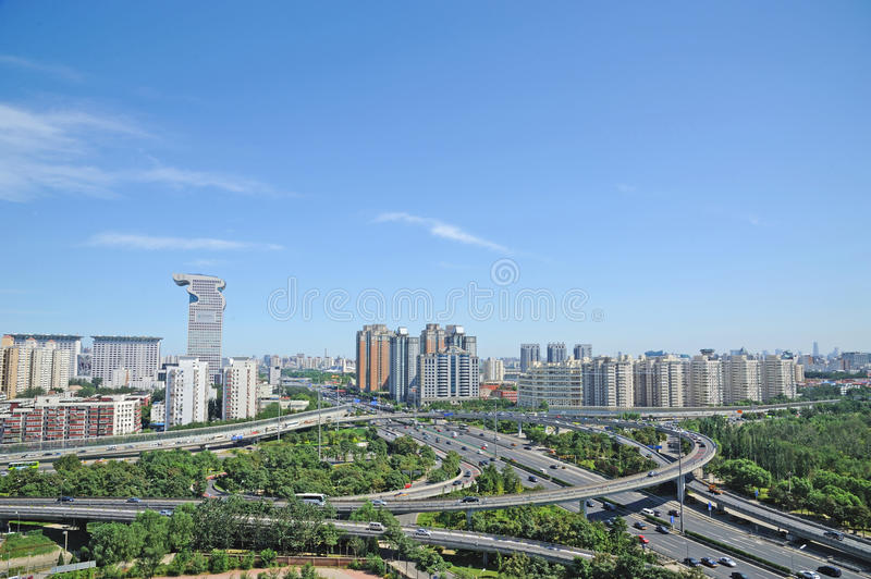 Download Traffic in beijing editorial image. Image of building - 21724110
