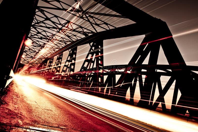 Traffic on the Bridge, Cremona, Italy stock image