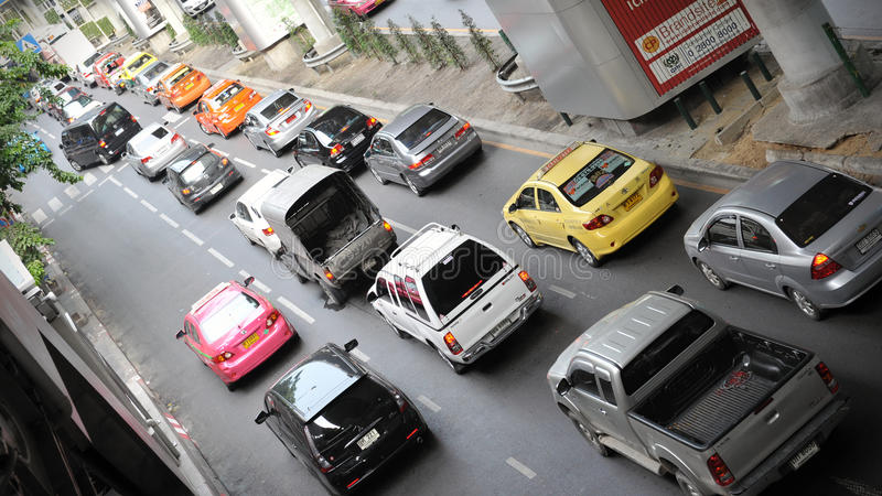 Download Traffic On A Busy Road In Bangkok Editorial Image - Image: 27630715
