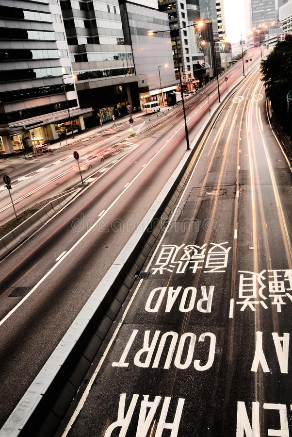 Download Traffic With Cars Motion Blurred And Mark Stock Image - Image: 11519153