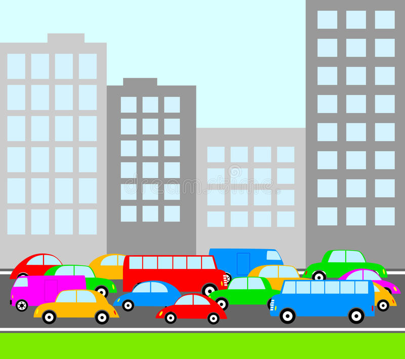 Download Traffic in city stock vector. Illustration of city, speed - 24839830