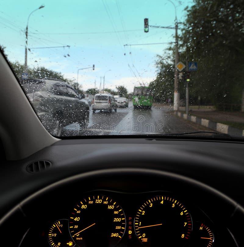 Traffic in city stock photo