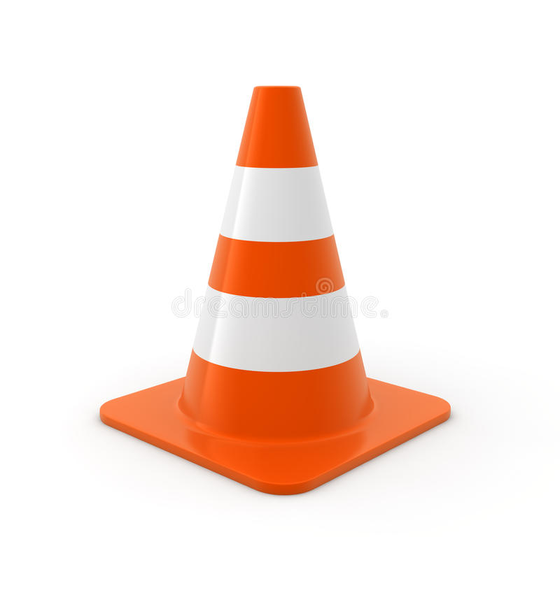 Download Traffic cone stock illustration. Illustration of warning - 12235013