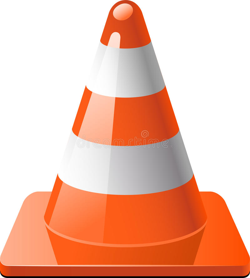 Traffic cone stock illustration