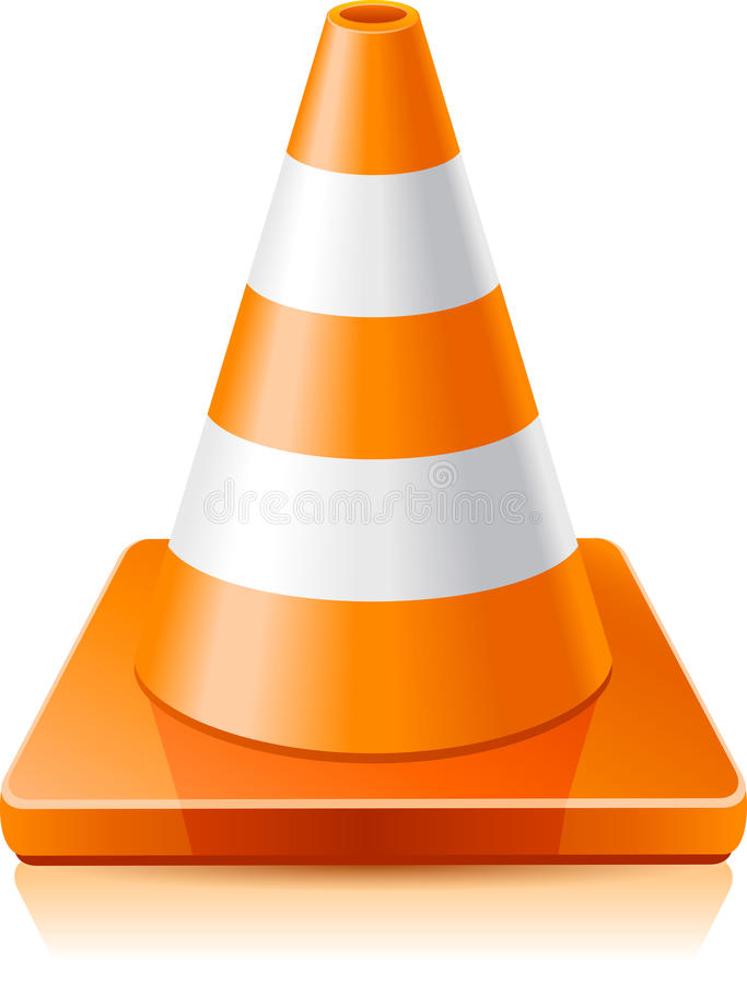 Traffic cone royalty free illustration