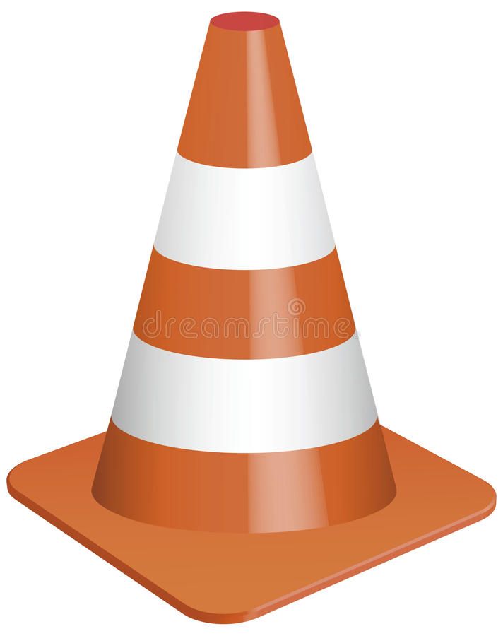 Download Traffic cone stock vector. Illustration of cone, marking - 23985467