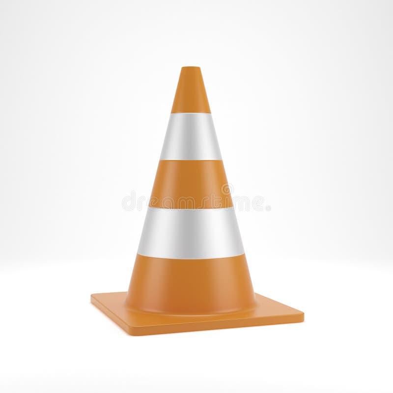 Download Traffic cone stock illustration. Image of attention, orange - 27358801