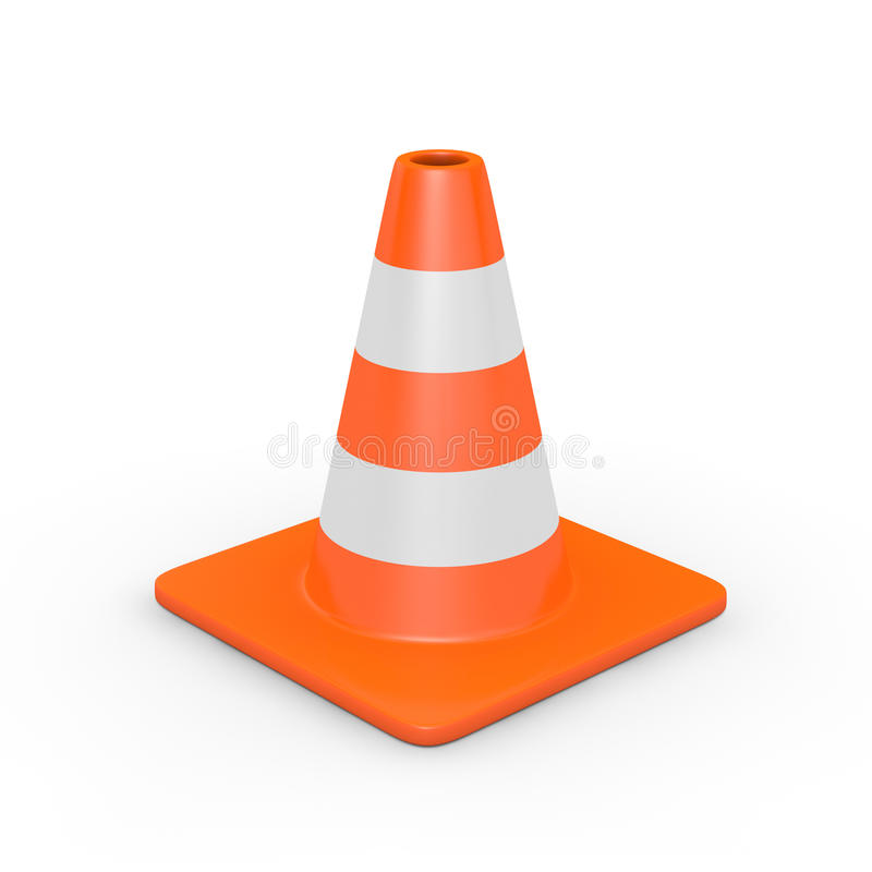 Download Traffic cone stock illustration. Image of white, traffic - 29030474