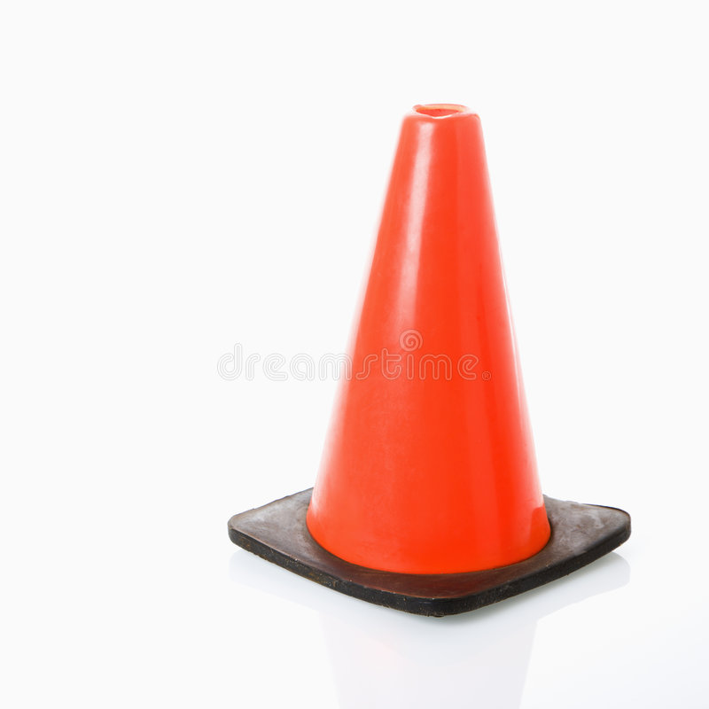 Traffic cone. royalty free stock photography
