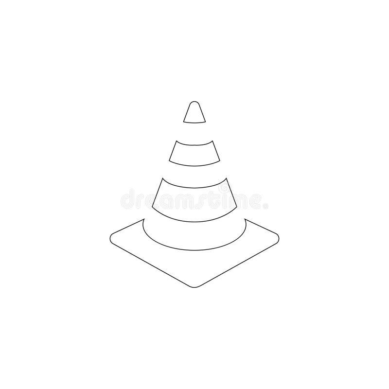 Traffic cone. flat vector icon royalty free illustration