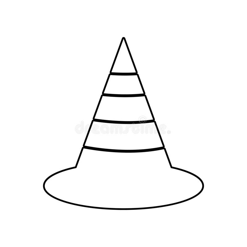 The traffic cone icon. Element of Constraction tools for mobile concept and web apps icon. Outline, thin line icon for website royalty free illustration