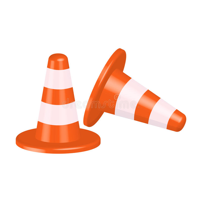 Traffic cone illustration isolated on white background. Traffic cone illustration isolated on a white background royalty free illustration