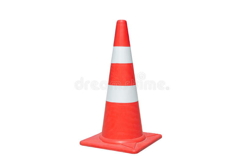 Traffic cone isolated stock photos