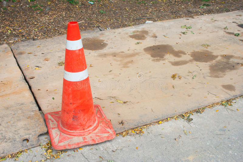 traffic cone for transportation in thailand stock photography