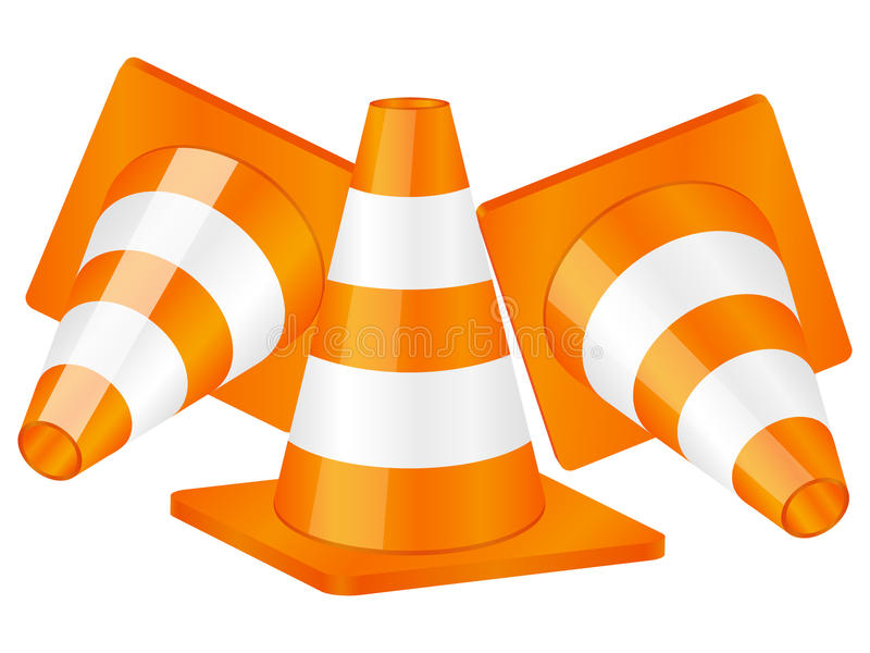 Download Traffic cones stock vector. Image of work, icon, illustration - 17868495