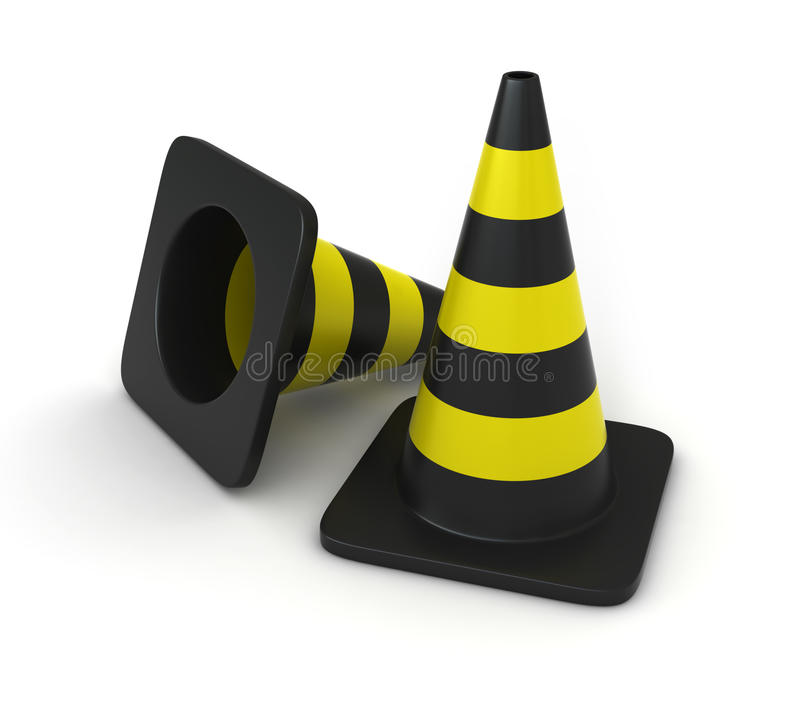 Download Traffic cones stock illustration. Image of yellow, safety - 22961828