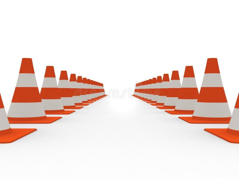 Traffic cones royalty free illustration