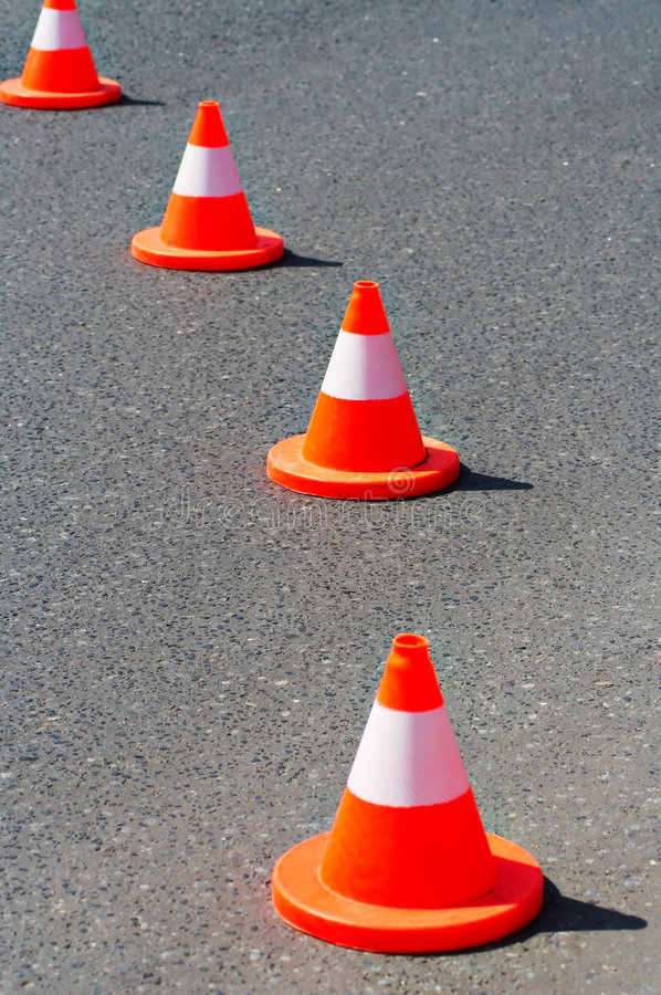 Download Traffic Cones Royalty Free Stock Images - Image: 7981299
