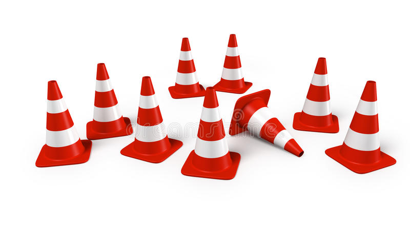 Download Traffic Cones In A Group Royalty Free Stock Photos - Image: 18172508