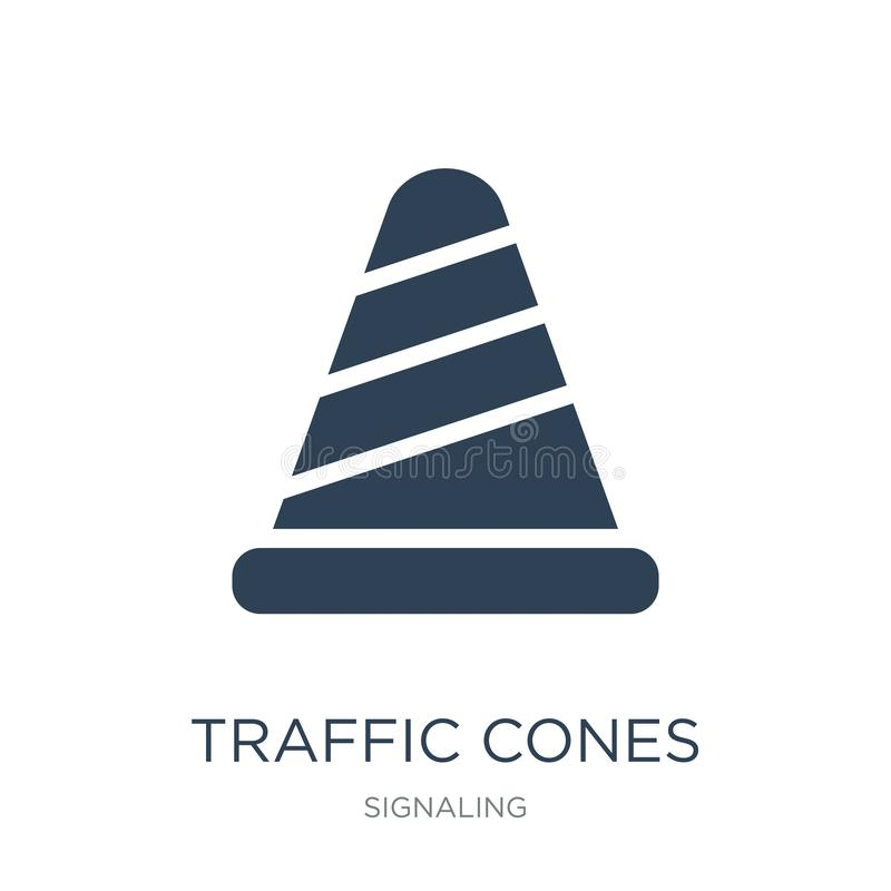 Traffic cones icon in trendy design style. traffic cones icon isolated on white background. traffic cones vector icon simple and. Modern flat symbol for web vector illustration