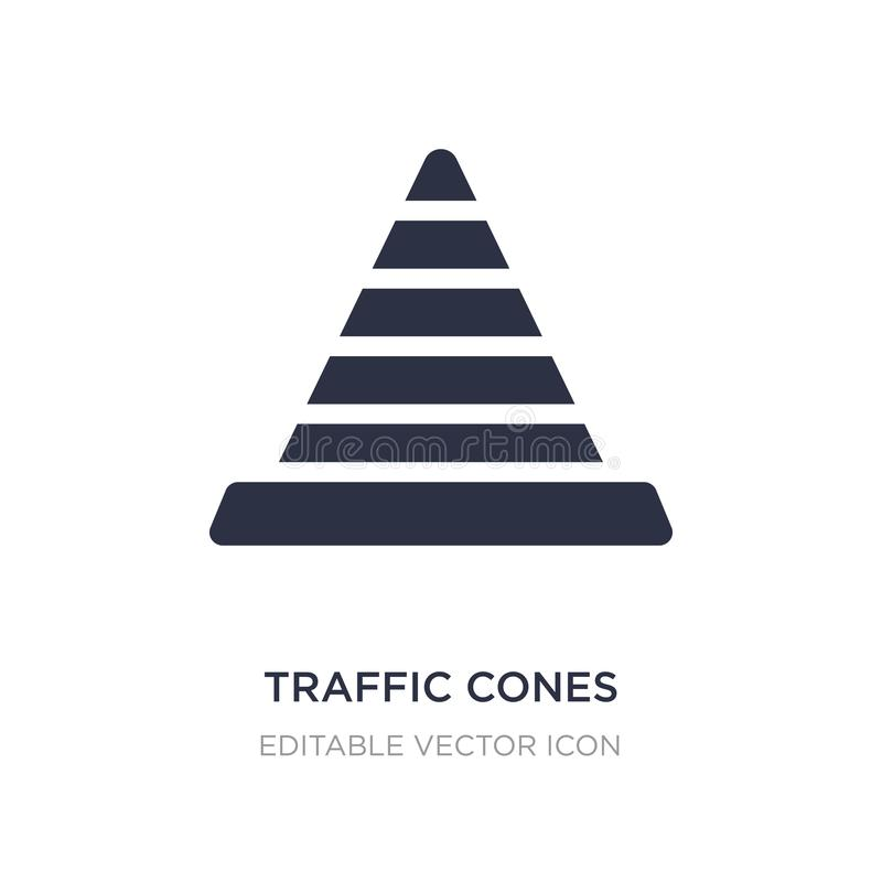 Traffic cones icon on white background. Simple element illustration from Signaling concept. Traffic cones icon symbol design royalty free illustration