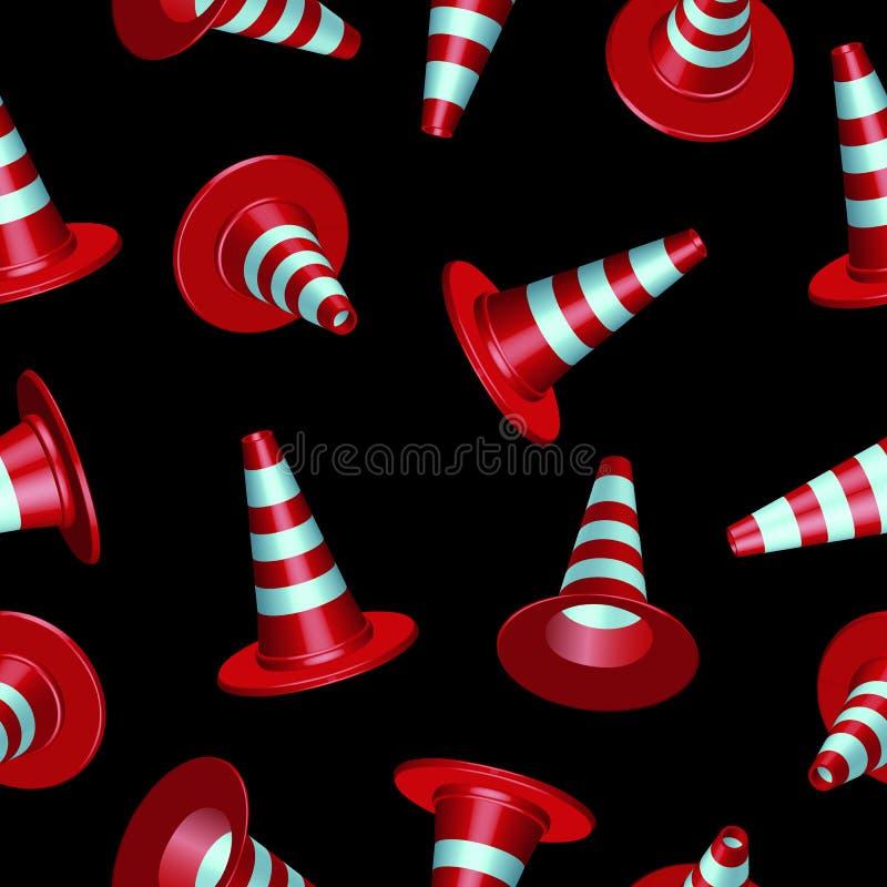 Traffic cones pattern
